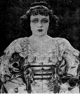 Bridgeport Times and Evening Farmer, November 2, 1921, image of Barbara as Milady de Winter in The Three Musketeers.