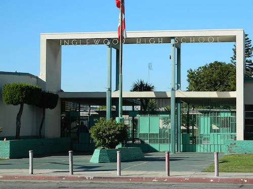 Inglewood High School, at 231 S Grevillea Avenue in Inglewood