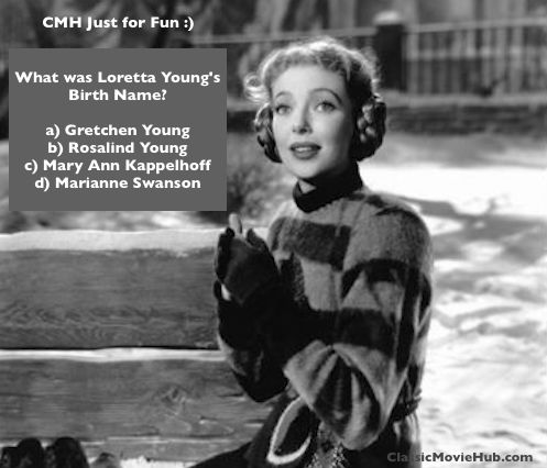loretta young trivia question