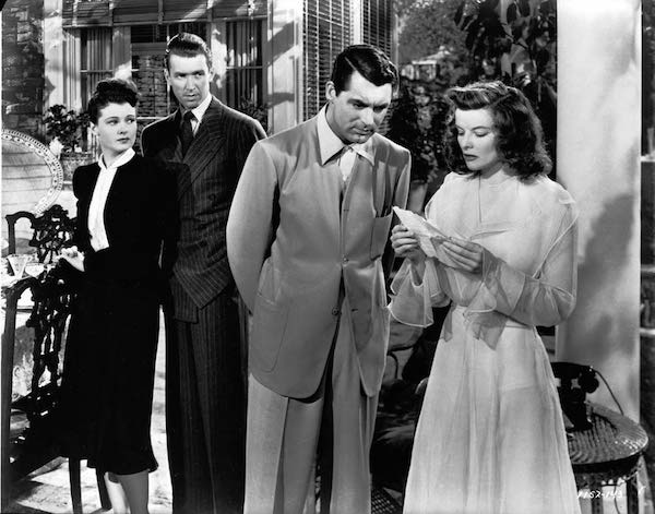 Ruth Hussey, James Stewart, Cary Grant and Katharine Hepburn in The Philadelphia Story