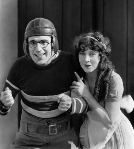 Harold Lloyd and Jobyna Ralston in The Freshman