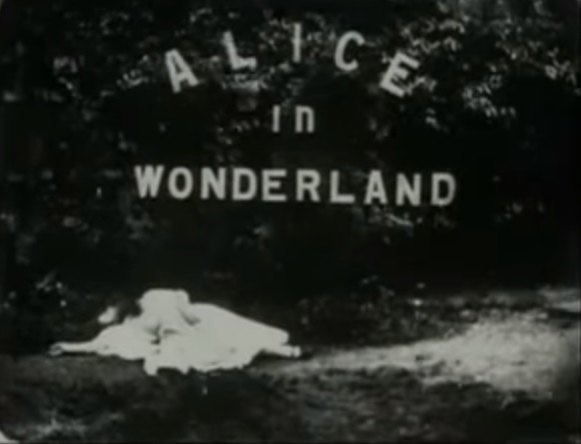 Alice in Wonderland 1903 title card