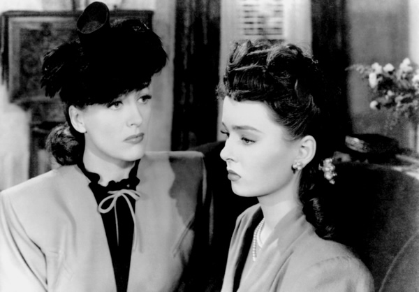 Ann Blyth and Joan Crawford in Mildred Pierce