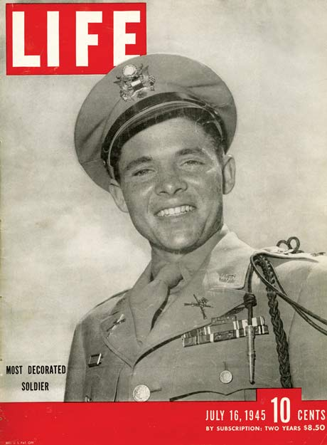 Audie Murphy, America's Most Decorated Soldier, on Life Magazine in 1945