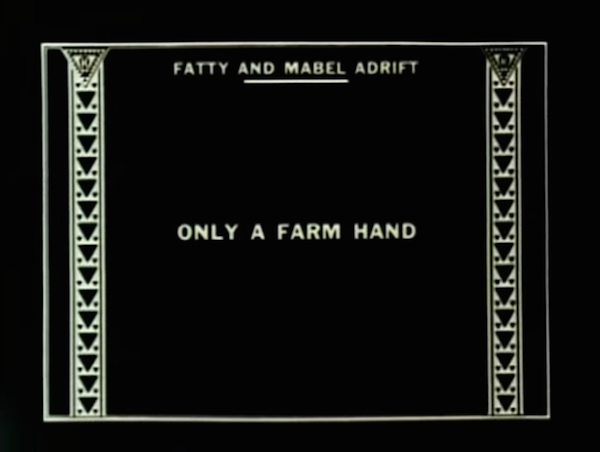 Fatty and Mabel Adrift (1916) title card