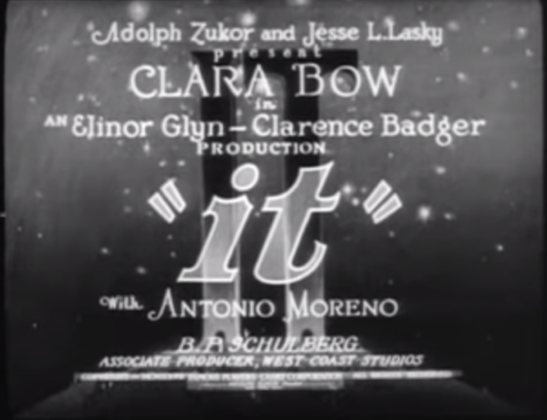 It (1927) title card