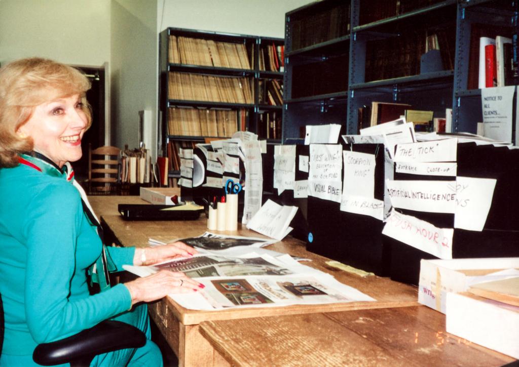 Lillian researching