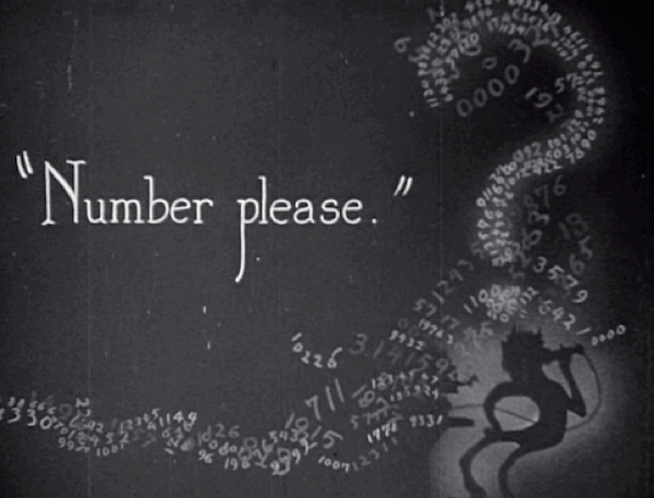 Number, Please? (1920) title card