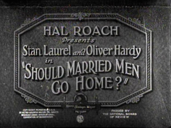 Should Married Men Go Home? (1928) title card