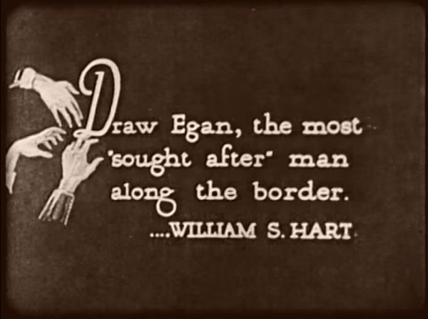 The Return of Draw Egan (1916) title card