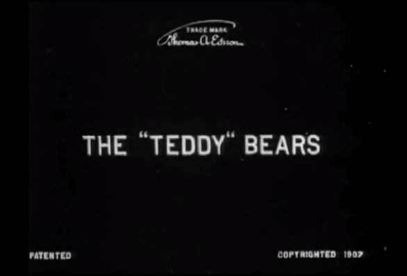 The Teddy Bears 1907 title card