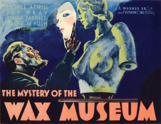 Warner Bros Horror - Mystery of the Wax Museum poster