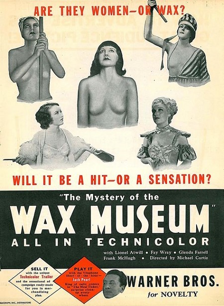 Warner Bros Horror - mystery of trhe wax museum ad
