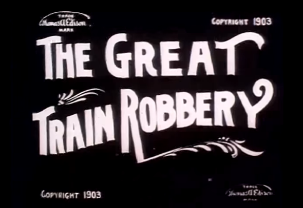 the great train robery 1903 title card