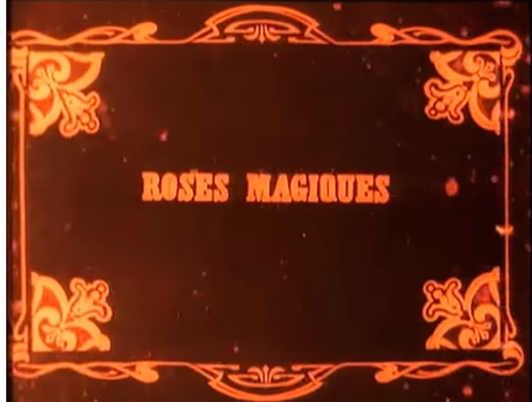 the magic roses 1906 title card