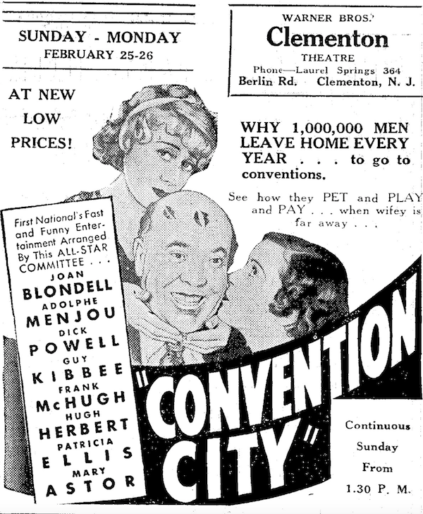 1933 Ad for Convention City