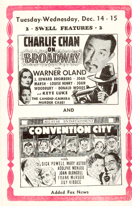 Convention City Ad 1937 illicit screening