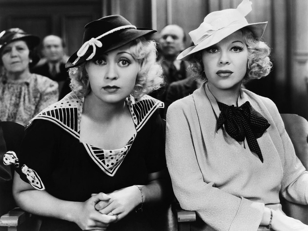 Joan Blondedd and Glenda Farrell