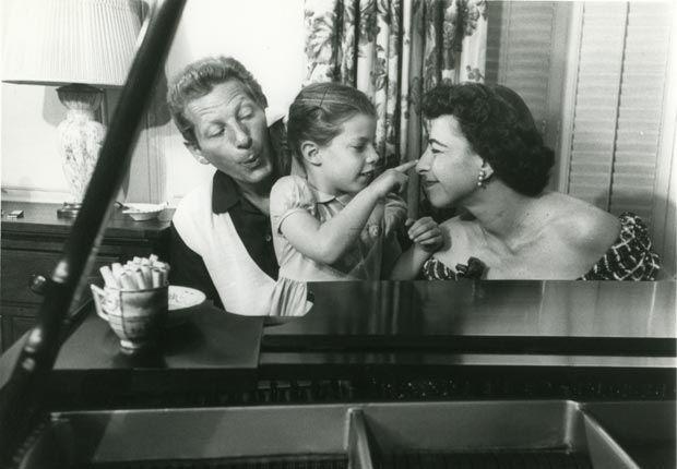 Danny Kaye, Dena Kaye, and Sylvia Fine
