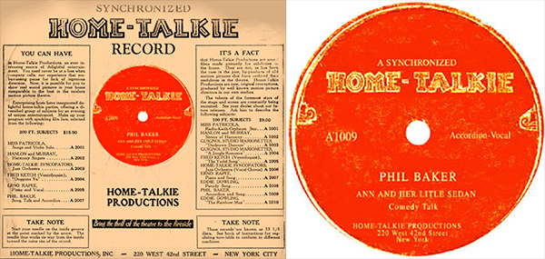 Home Talkie Disc in Sleeve and Label