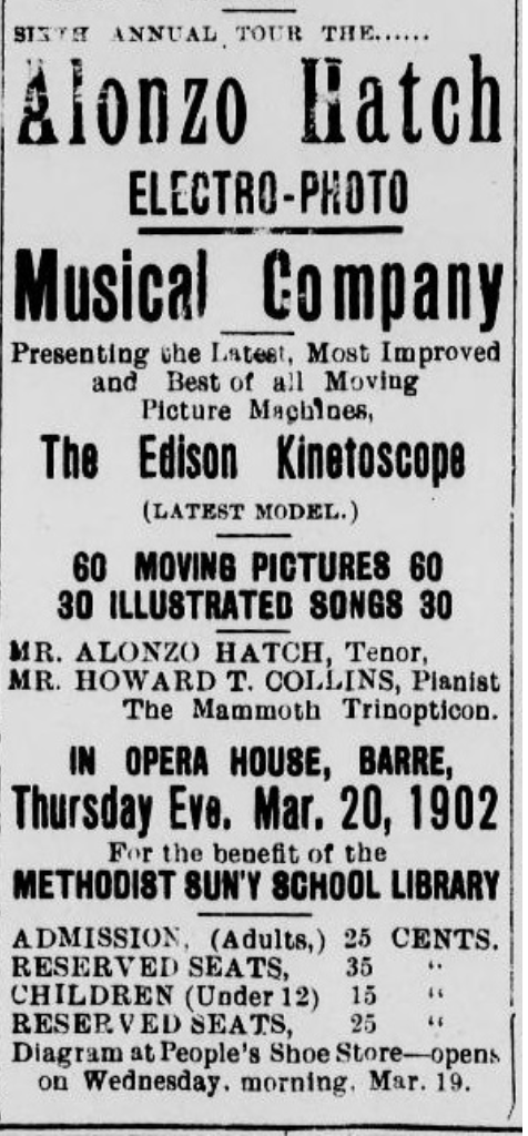 Barre Evening Telegraph, Barre VT, March 19, 1902.