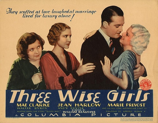 Three Wise GIrls Movie Ad 1932