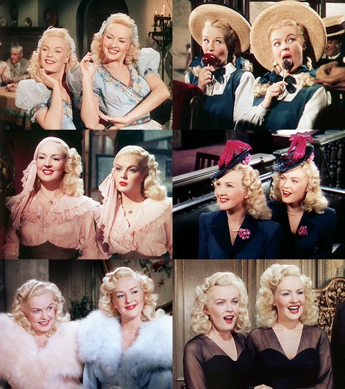 """The Dolly Sisters"" film starring Betty Grable and June Haver."