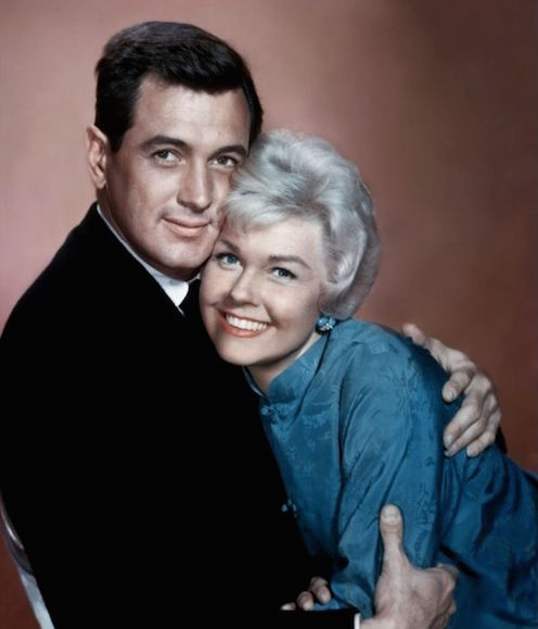 doris day and rock hudson hugging