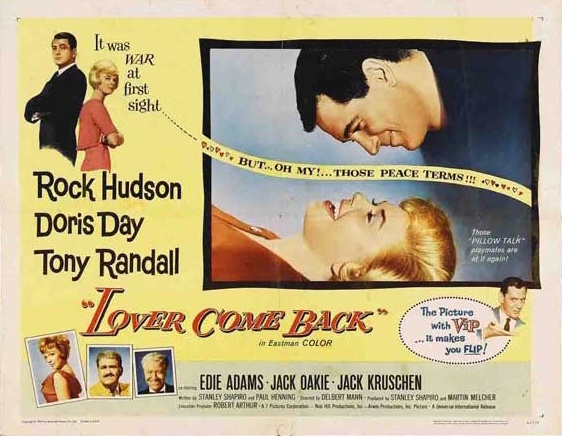 doris day rock hudson lover come back lobby card