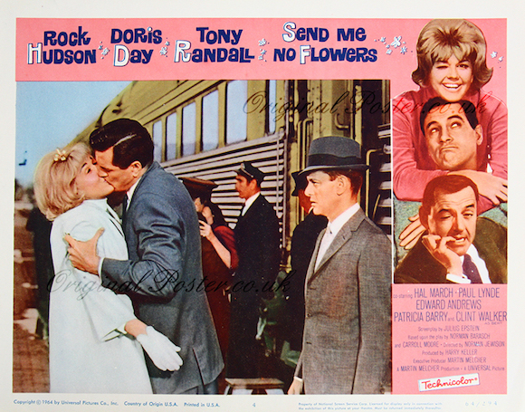 doris day and rock hudson send me no flowers lobby card