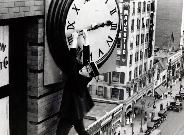 Buster Keaton Clock Scene