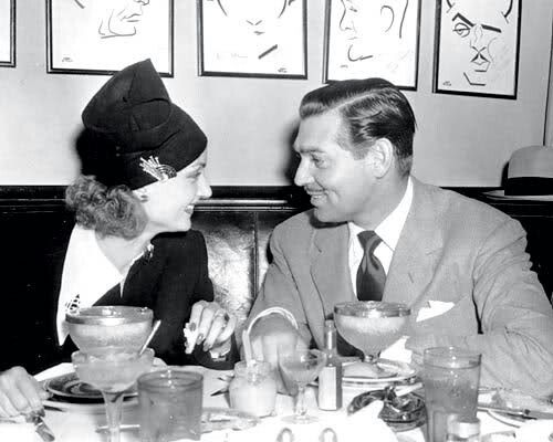 Lombard and Gable at the Hollywood Brown Derby