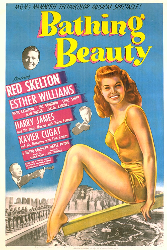 Bathing Beauty Movie Poster (1944)