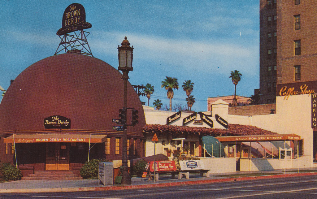 The original Brown Derby Restaurant on Wilshire Boulevard