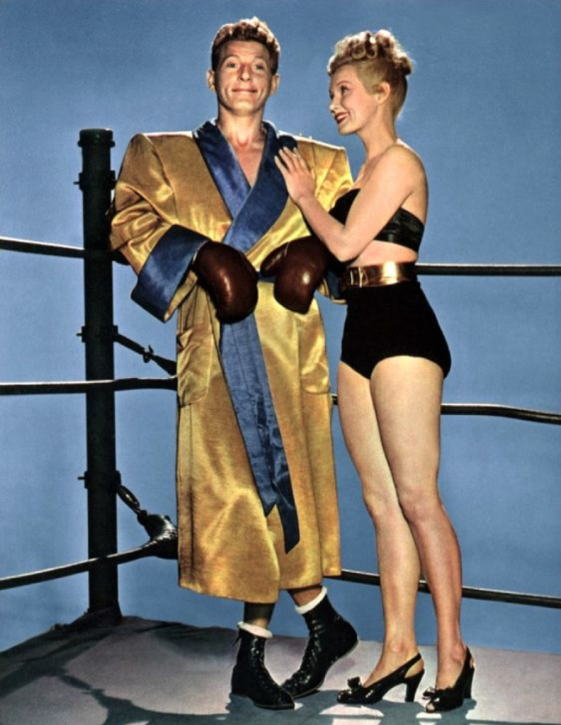 Danny Kaye and Virginia Mayo in The Kid From Brooklyn.