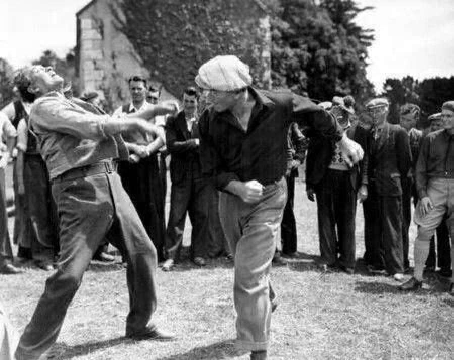Victor McLaglen and John Wayne duke it out in The Quiet Man (1952)