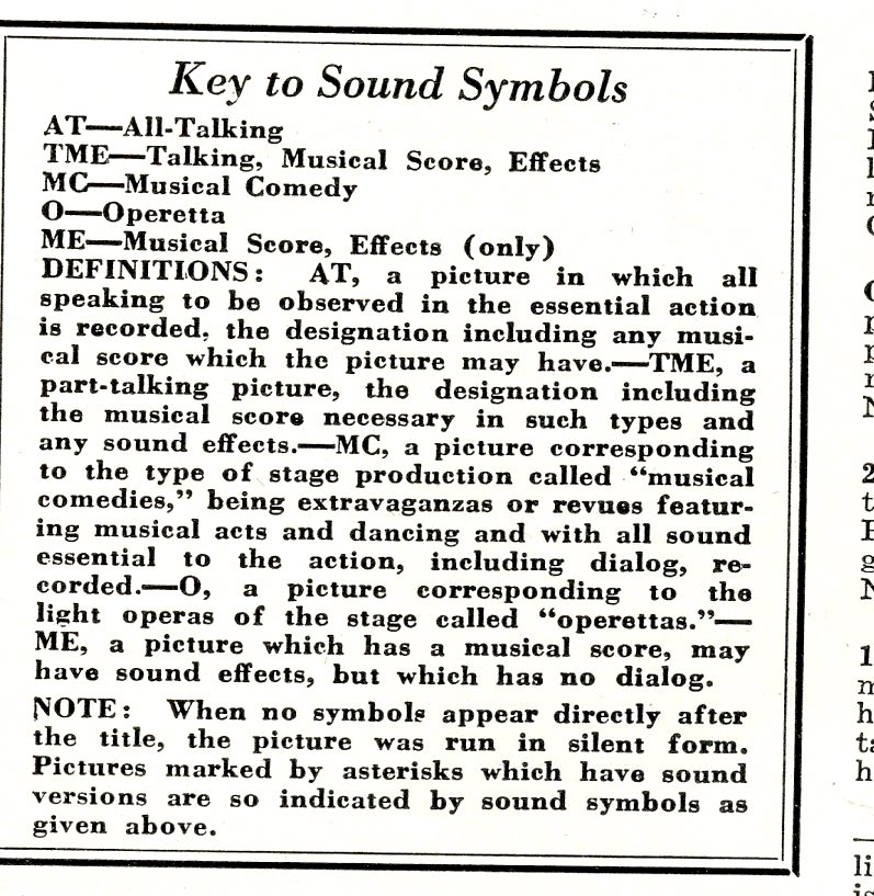 Film Sound Key Vitaphone