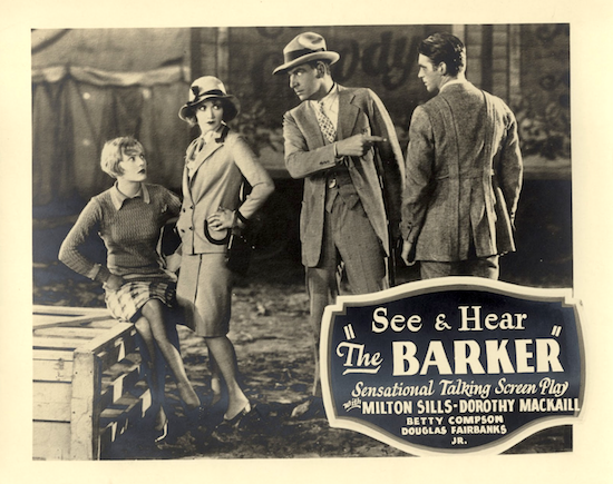 See and Hear Ad for The Barker (1928)