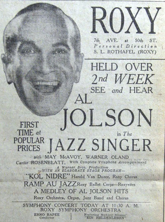 The Jazz Singer See and Hear Ad (1928)