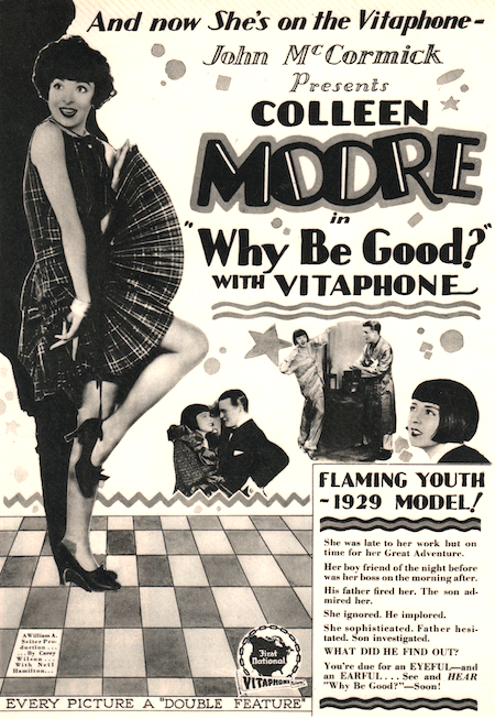 See and Hear Ad for Colleen Moore's Why Be Good? (1929)