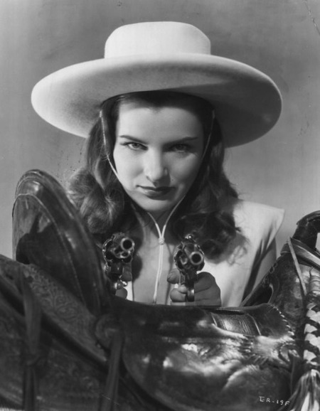 Ella Raines as Arly Harolday in Tall in the Saddle (1944)