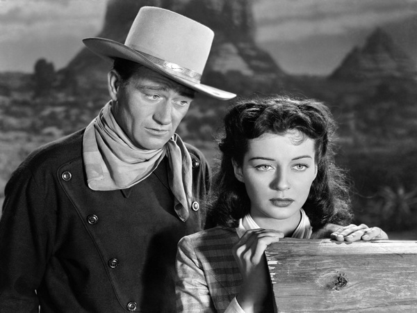 John Wayne and Gail Russell in Angel and The Badman (1947).