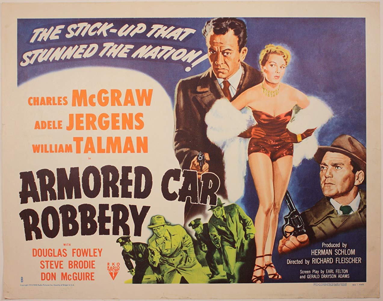 The colorful poster for Armored Car Robbery.
