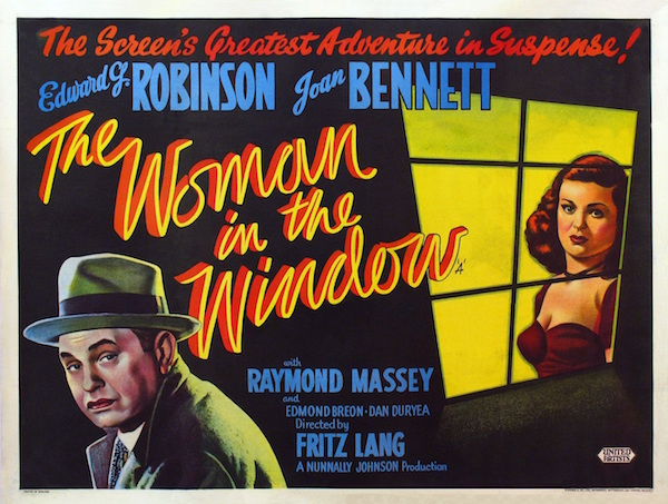 fritz lang's the woman in the window movie poster