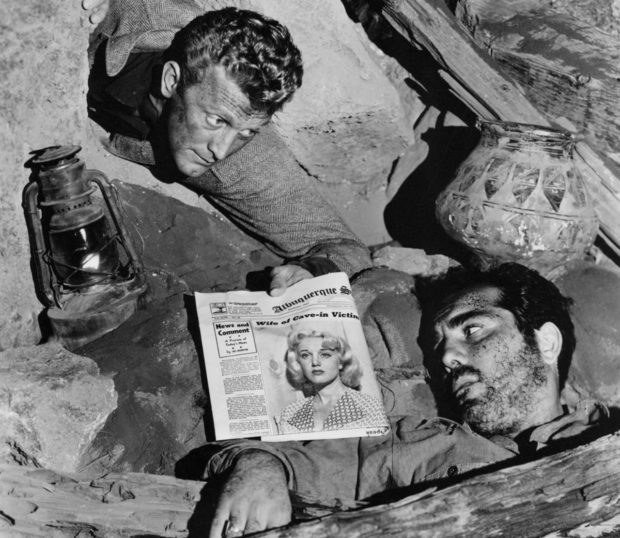 Ace in the Hole (1951) Cave Scene with Kirk Douglas and Richard Benedict