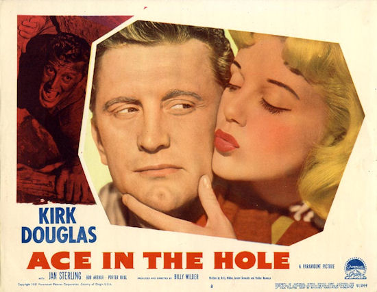 Ace in the Hole (1951) Kirk Douglas and Jan Sterling Movie Poster