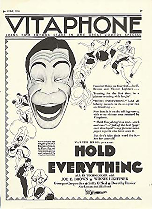 Hold Everything (1930) Ad Winnie Lightner and Joe E. Brown Musical