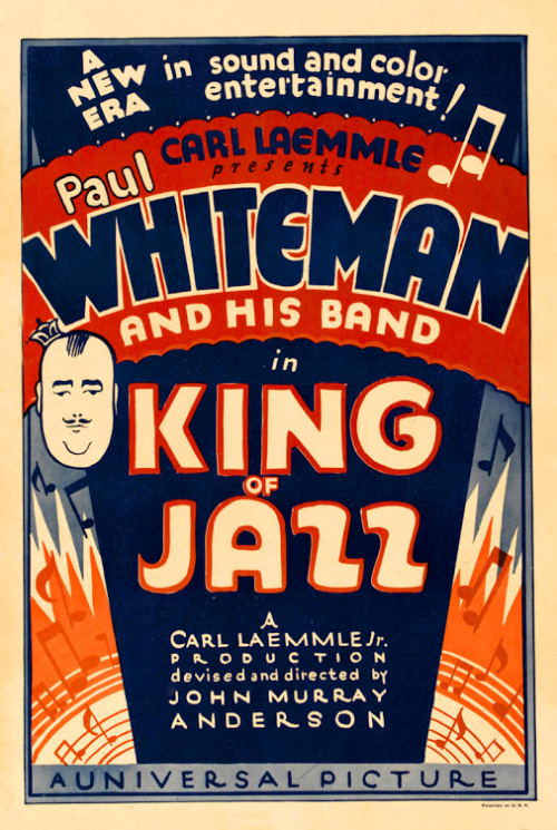 King of Jazz Movie Poster (1930) Universal Musical Paul Whiteman