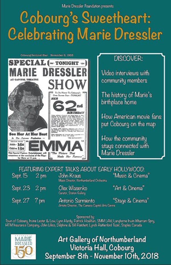Marie Dressler Cobourg's Sweetheart Celebration