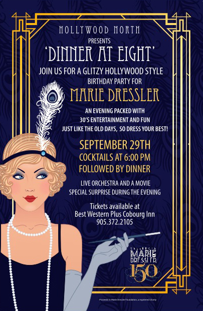 Marie Dressler 150 Dinner at Eight Celebration